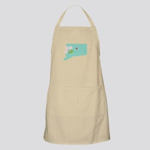 Connecticut State Map Apron
