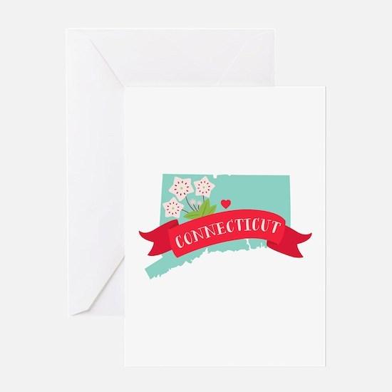 Connecticut Flower Laurel Greeting Cards