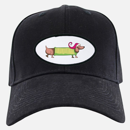 HOLIDAY DACHSHUND Baseball Hat