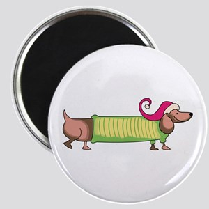 HOLIDAY DACHSHUND Magnets
