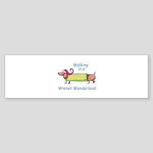 WIENER WONDERLAND Bumper Sticker