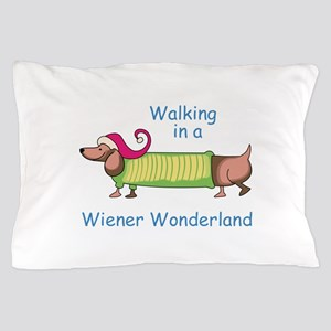 WIENER WONDERLAND Pillow Case