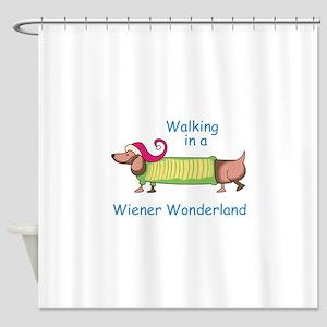 WIENER WONDERLAND Shower Curtain
