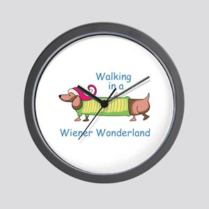 WIENER WONDERLAND Wall Clock
