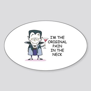 PAIN IN THE NECK Sticker