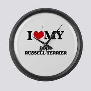 I love my Jack Russell Terrier Large Wall Clock