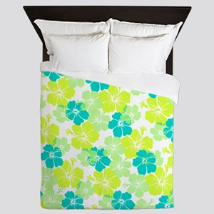 Hawaii hibiscus Queen Duvet