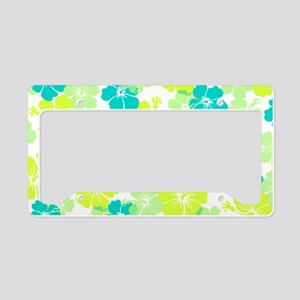 Hawaii hibiscus License Plate Holder