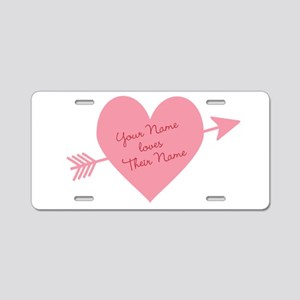 Personalized Valentine Hear Aluminum License Plate