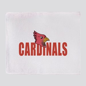 CARDINALS MASCOT Throw Blanket
