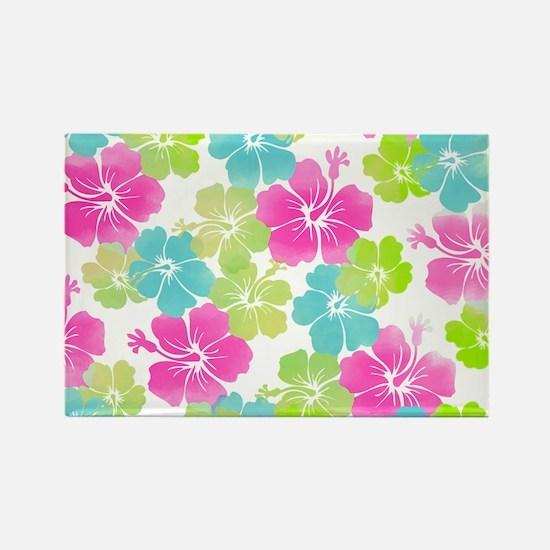 Hawaii hibiscus Rectangle Magnet