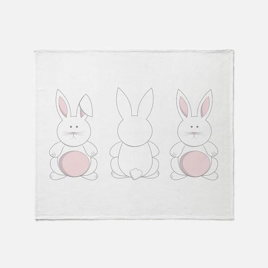 Easter Bunnies Throw Blanket