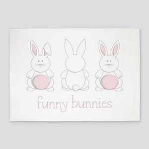 Funny Bunnies 5'x7'Area Rug