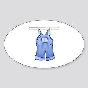 OVERALLS ON CLOTHESLINE Sticker