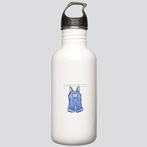 OVERALLS ON CLOTHESLINE Water Bottle