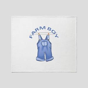 FARM BOY Throw Blanket