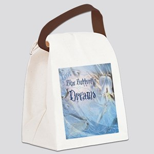 Love Blue Butterfly Dream 2 Canvas Lunch Bag