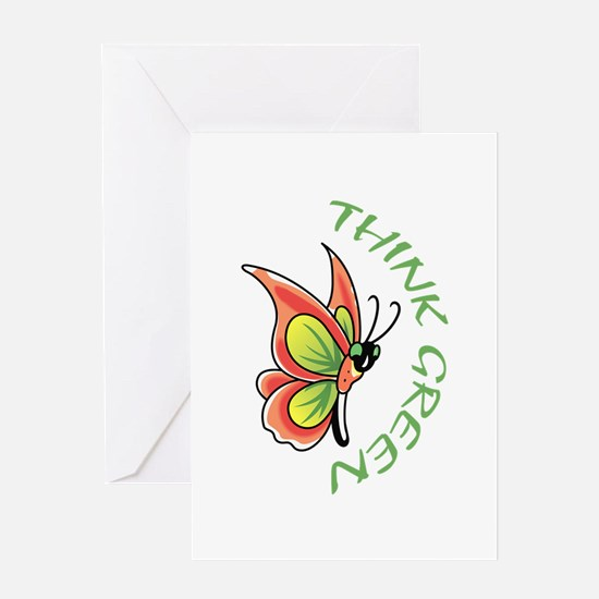 THINK GREEN Greeting Cards