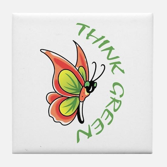 THINK GREEN Tile Coaster