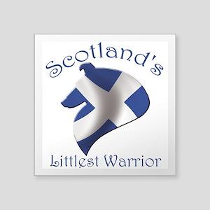 """Scotland's Littlest Warrior Square Sticker 3"""" x 3"""""""