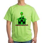 AlienShack Logo Green T-Shirt