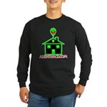 AlienShack Logo Long Sleeve Dark T-Shirt