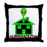 AlienShack Logo Throw Pillow