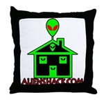 AlienShack Logo Throw Pillow