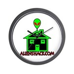 AlienShack Logo Wall Clock