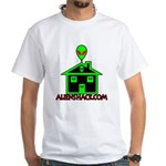 AlienShack Logo White T-Shirt