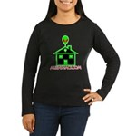 AlienShack Logo Women's Long Sleeve Dark T-Shirt