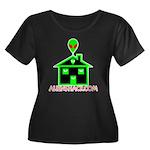 AlienShack Logo Women's Plus Size Scoop Neck Dark