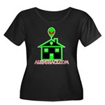 AlienShack Logo Women's Plus Size Scoop Neck Dark