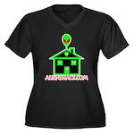 AlienShack Logo Women's Plus Size V-Neck Dark T-Sh