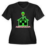 AlienShack Logo Women's Plus Size V-Neck Dark T-Sh