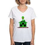 AlienShack Logo Women's V-Neck T-Shirt