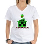 AlienShack Logo Women's V-Neck T-Shirt