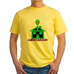 AlienShack Logo Yellow T-Shirt