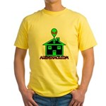AlienShack Logo Yellow T-Shirt