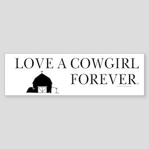 Cowgirl Love Bumper Sticker