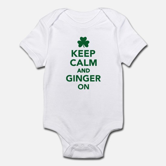 Keep calm and ginger on Infant Bodysuit