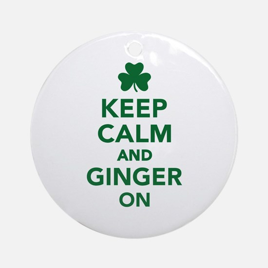 Keep calm and ginger on Ornament (Round)