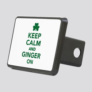 Keep calm and ginger on Rectangular Hitch Cover