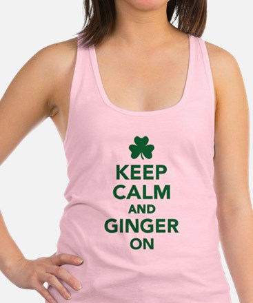 Keep calm and ginger on Racerback Tank Top