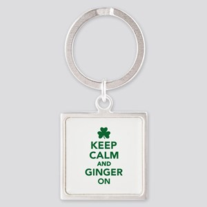 Keep calm and ginger on Square Keychain