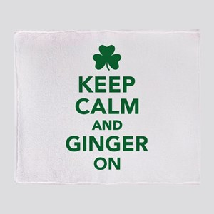 Keep calm and ginger on Throw Blanket