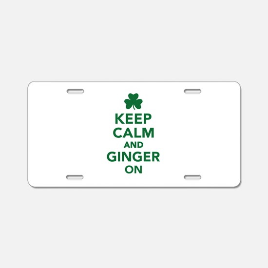 Keep calm and ginger on Aluminum License Plate