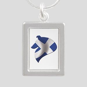 Scotland's Littlest Warr Silver Portrait Necklace