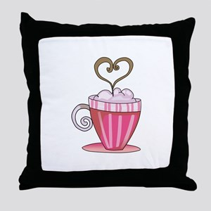 Coffee Latte Throw Pillow