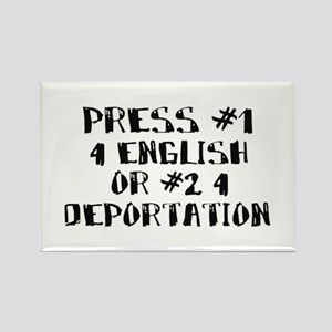 Speak English-Immigration Rectangle Magnet